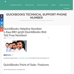 QuickBooks Helpline Number 1-844-887-9236 (QuickBooks 800 Toll Free)