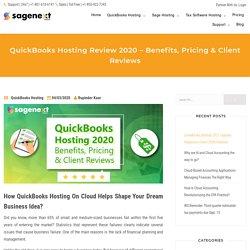 QuickBooks Hosting 2020 – Benefits, Pricing & Client Reviews