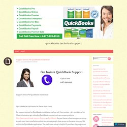 Support Service For Quickbooks Installation
