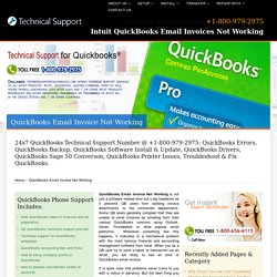+800-979-2975 QuickBooks Email Invoice Not Working
