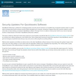 Security Updates For Quickbooks Software: kentavrahamtech