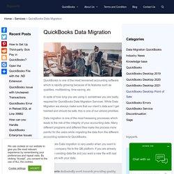 QuickBooks Data Migration Services - Cross-Platform Migration