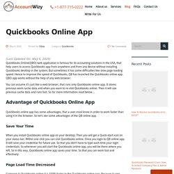 Quickbooks Online App: How To use QBOApp - Accountwizy.com