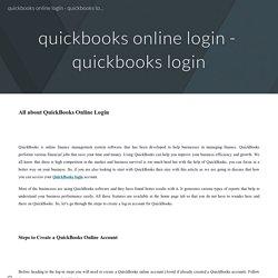 quickbooks online login - quickbooks login