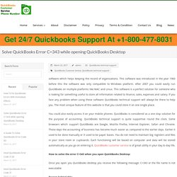 Solve QuickBooks Error C=343 while opening QuickBooks Desktop