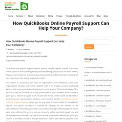 How QuickBooks Online Payroll Support Can Help Your Company? - QuickBooks Customer Service Phone Number