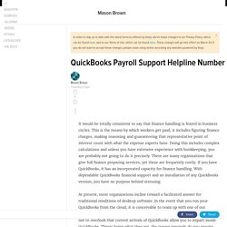 QuickBooks Payroll Support Helpline Number