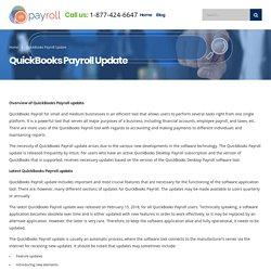 QuickBooks Payroll Update Service 1-877-424-6647 Get Help.