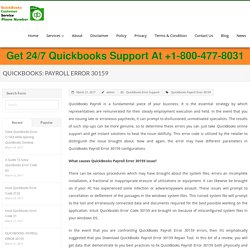 Quickbooks: Payroll Error 30159, Solutions, Help, Support, Phone Number