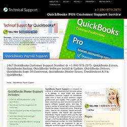 QuickBooks Payroll Support - +1-800-979-2975