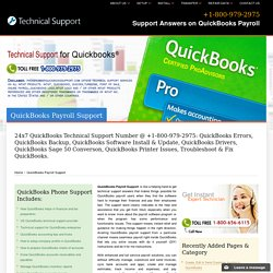 QuickBooks Payroll Support - +1-800-979-2975 Phone Number