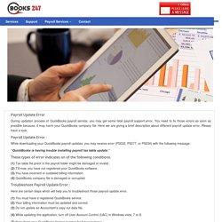 Quickbooks Payroll Update & Error Support @1-855-441-4436
