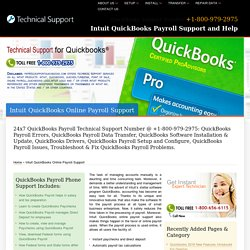 +800-979-2975-Intuit QuickBooks Online Payroll Support