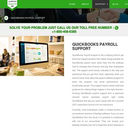 QuickBooks Payroll Support Phone Number: Dial 1-800-408-6389