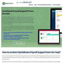 QuickBooks Payroll Support Phone Number 1855-441-4417 Help Service