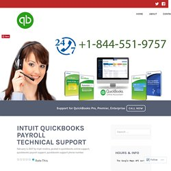 INTUIT QUICKBOOKS PAYROLL TECHNICAL SUPPORT – QuickBooks