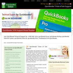Quickbooks Point of Sale Support-888-856-6939