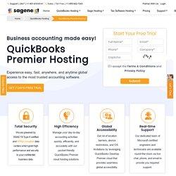 QuickBooks Premier Hosting (Cloud) - Premier Desktop Hosting Service