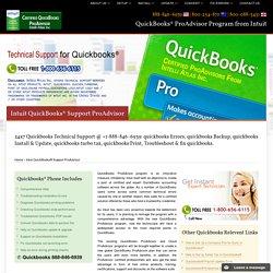 888-846-6939-QuickBooks ProAdvisor Program from Intuit