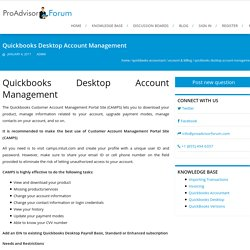 Quickbooks Desktop Account Management - ProAdvisorForum