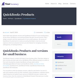 QuickBooks Products And Versions For Small Business