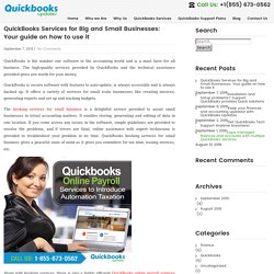 QuickBooks Services for Big and Small Businesses: Your guide on how to use it - QuickBooksUpdates