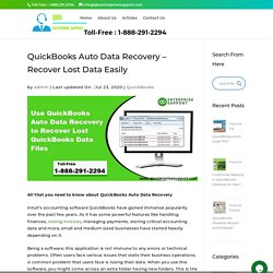 QuickBooks Auto Data Recovery: Recover Your Lost Data Easily