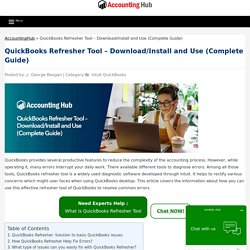 QuickBooks Refresher Tool - Download & Install, How to Use- 1844-313-4856