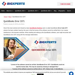 QuickBooks Error Code 3371: Fix Resolve Support