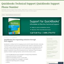 Quickbooks Not responding solutions through tech support