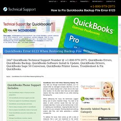 (800) 979-2975 QuickBooks Error 6123 When Restoring Backup File