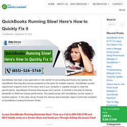 QuickBooks Running Slow! Here's How to Quickly Fix it