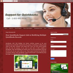 QuickBooks Support Services Provider in USA: How QuickBooks Support Aids in Modifying Multiple QuickBooks Records