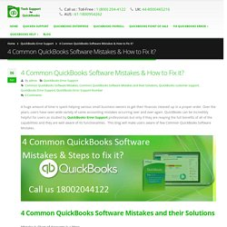 4 Common QuickBooks Software Mistakes & Solutions