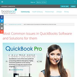 Most Common Issues in QuickBooks Software and Solutions for them