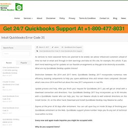 Intuit Quickbooks Error Code 31, Solutions, Help, Support, Phone Number
