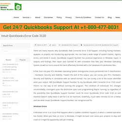 Intuit Quickbooks Error Code 3120, Solutions, Help, Support, Phone Number