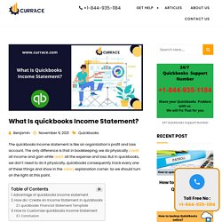 What Is Quickbooks Income Statement? - Currace.com