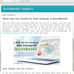 Quickbooks Support : What are the Causes of Data Damage in QuickBooks?