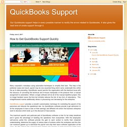 How to Get QuickBooks Support Quickly