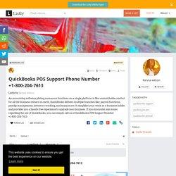 QuickBooks POS Support Phone Number +1-800-204-7613