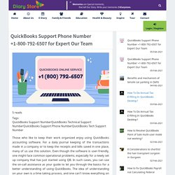 QuickBooks Support Phone Number +1-800-792-6507 for Expert Our Team