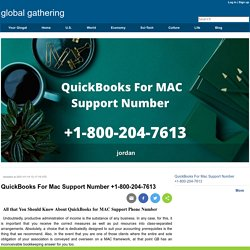 QuickBooks For Mac Support Number +1-800-204-7613