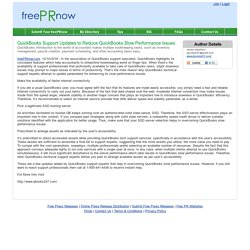 QuickBooks Support Updates to Reduce QuickBooks Slow Performance Issues