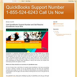 Call QuickBooks Support Number and Get Resolve QuickBooks Issue Now