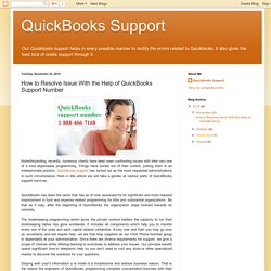 How to Resolve Issue With the Help of QuickBooks Support Number
