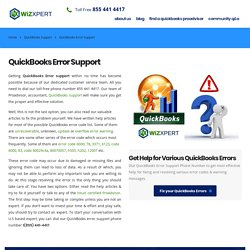 QuickBooks Error Support Phone Number 1-855 441-4417 Fix & Resolve