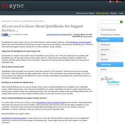 All you need to know About QuickBooks Pro Support Services….