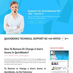 How To Remove Or Change A User's Access In QuickBooks?