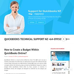 How to Create a Budget Within QuickBooks Online?